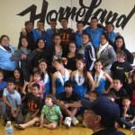 Guam dancers pose with Long Beach Kutturan Chamoru Foundation members following a community performance in 2012.
