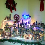 A Christmas village is part of the holiday decor in the Trelta's home