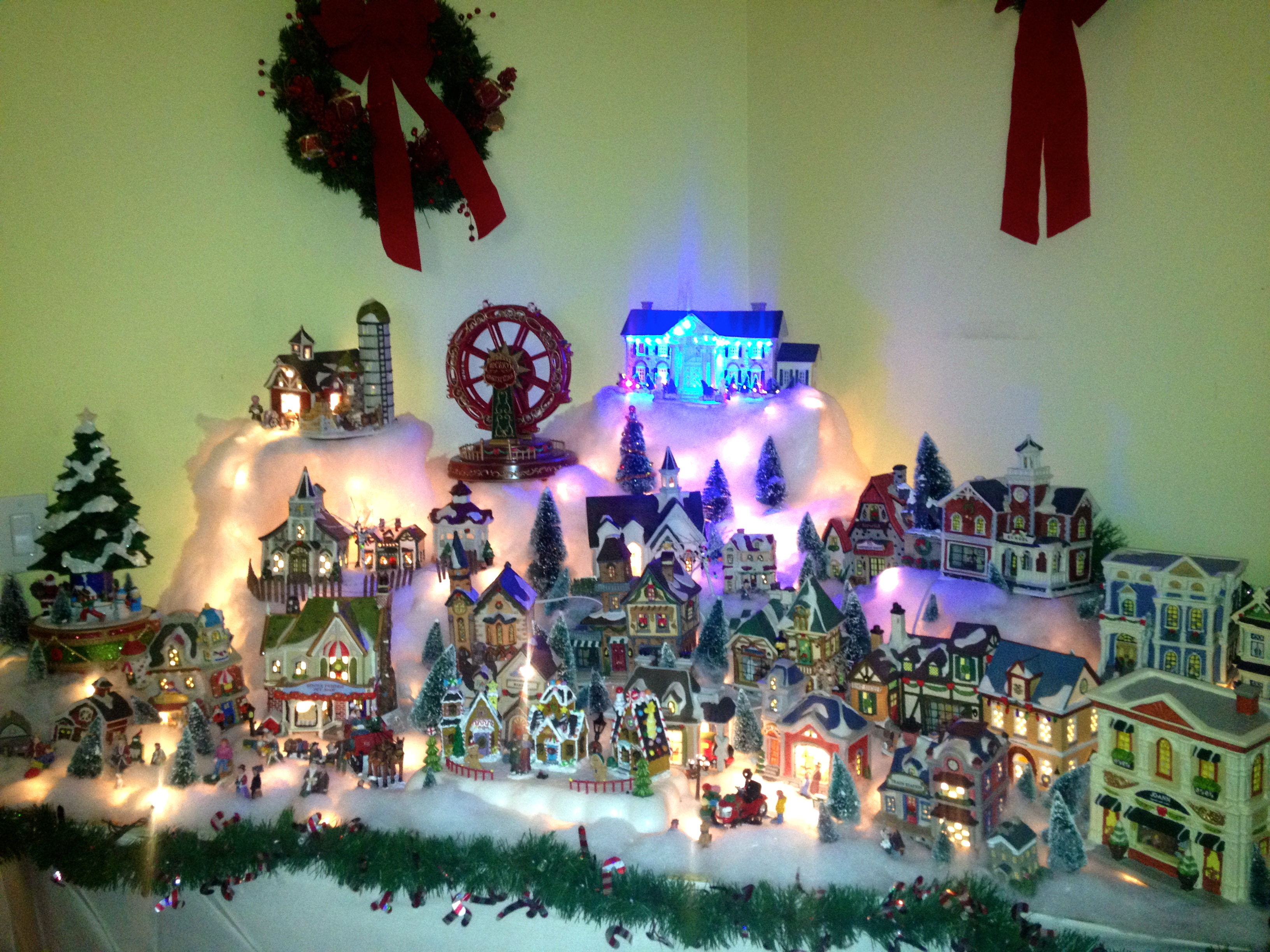 Christmas Village Home Decor Merry Christmas And Happy New Year 2018