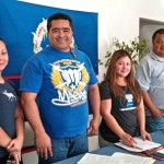 CNMI San Diego Club Officers (from left to right), first Treasurer, Ashley Schultz, President, David Atalig, Secretary, Shirley Lababit and Vice President Frank Novita