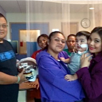 Frank Norita with CNMI patients and families at Rady's Children Hospital
