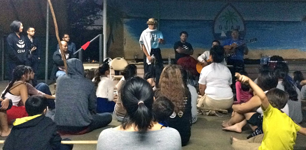 Students in San Diego ask questions following a Guam Chamorro Dance Academy workshop