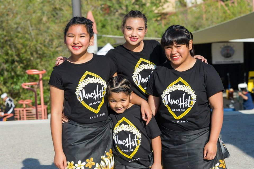 Uno Hit dancers Genesis, Aubrey and Angel with Alina, center.