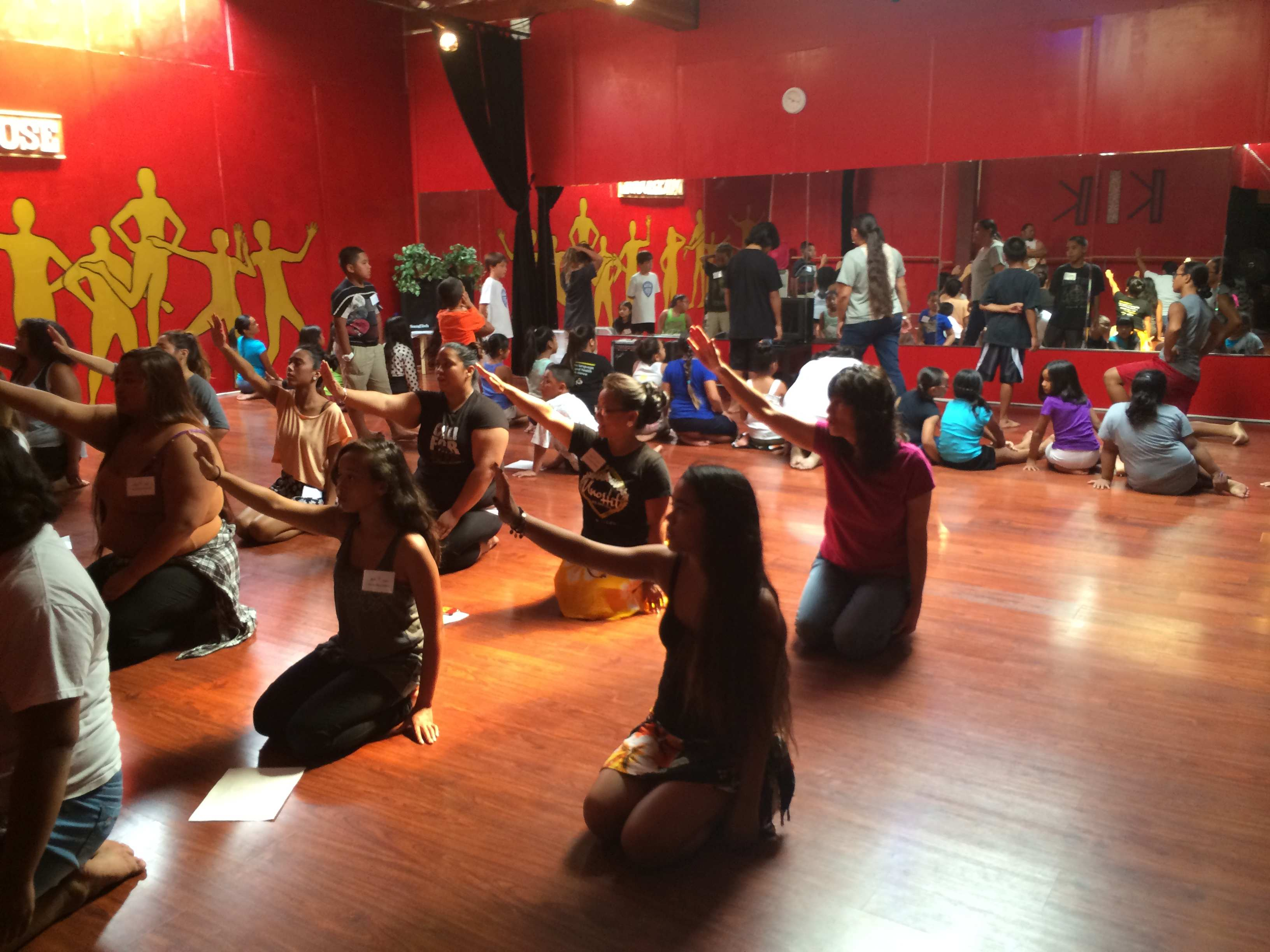 Uno Hit rehearses at a local dance studio in San Diego.