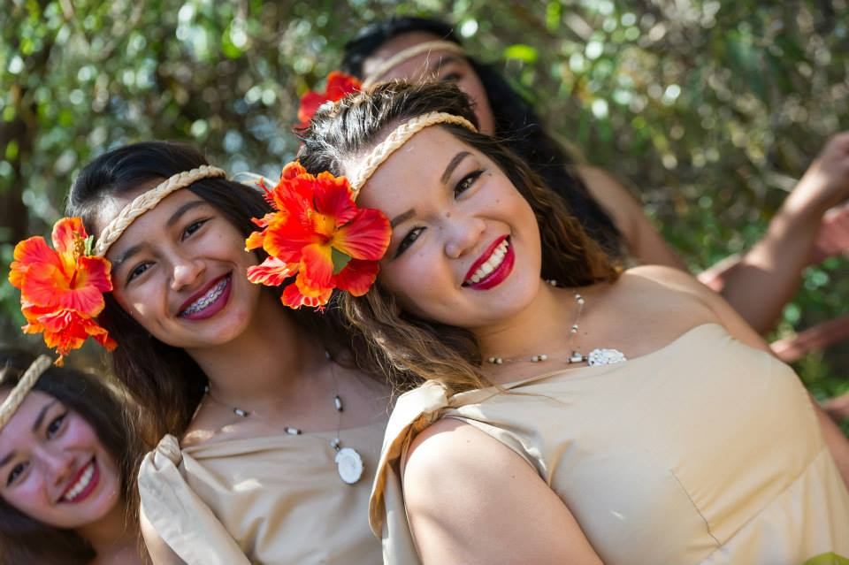 Candace and Dakota (behind) prior to the Chamorro Cultural Fest in 2013.