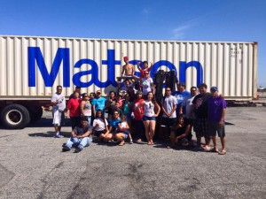 CNMI Club and Volunteers prepare a 40' container of donated items bound for Saipan.